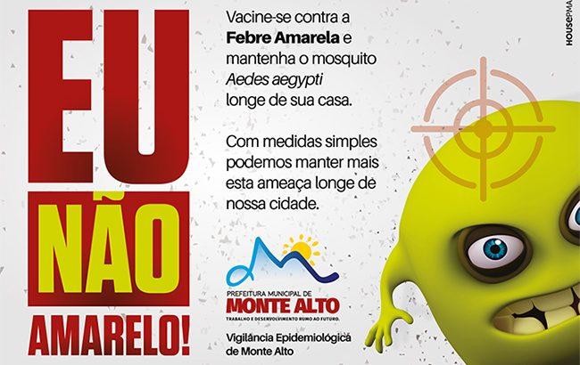 Prefeitura oferece vacina gratuita contra a febre amarela