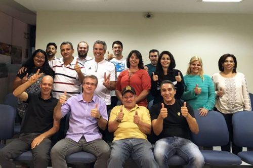 Membros do COMTUR acompanharam a transmissão da sessão na Prefeitura de Monte Alto, na noite de terça-feira.