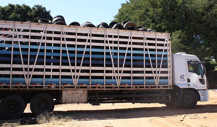 15 toneladas de pneus são recolhidas por mês em Monte Alto
