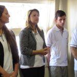 Funcionários da Fugini: Vania Bergo, Giulia Ninelli, Willian Torres e Rogério Freitas de Matos