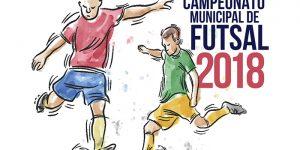 Estão abertas as inscrições para o Campeonato Municipal de Futsal 2018