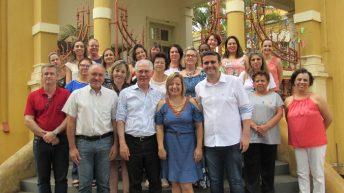 Prefeito João Paulo e vereador Baltazar recebem deputado Vaz de Lima