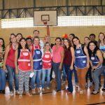 Equipe de funcionários da EMEB Profª Juventina de Oliveira Penna Campos