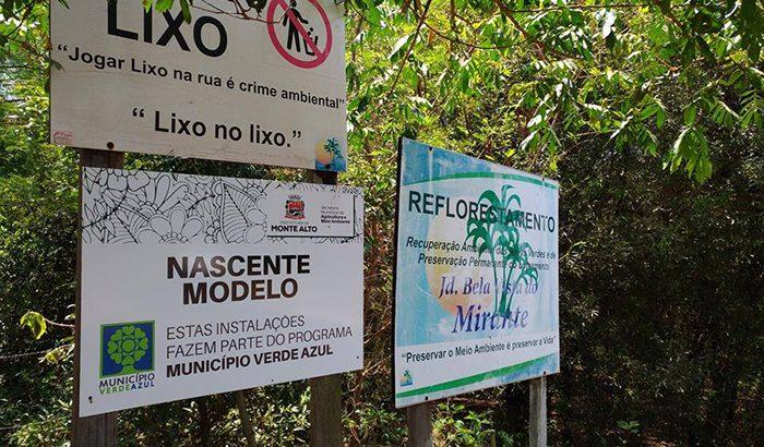 Estudo visa recuperar nascentes e áreas de mata ciliar em Monte Alto