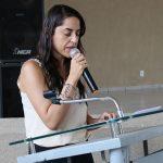 Assistente Social Aline na abertura da comemoração