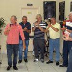 O presidente do NOMA, DOmingos Silvério, dá início à exposição.