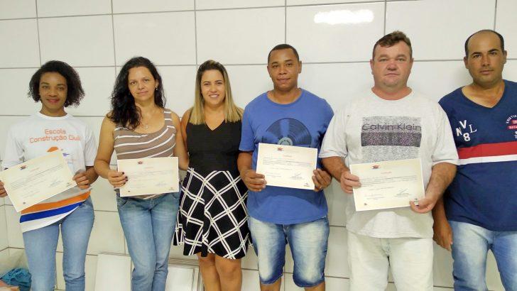Alunos da Construção Civil são certificados pelo Fundo Social de Solidariedade
