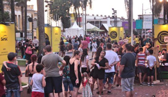 Monte Alto tem sábado animado com o Circuito Sesc de Artes