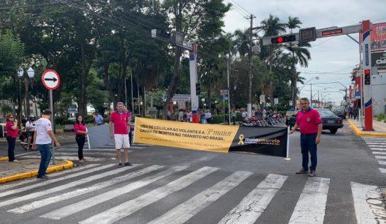 SAMU e Lions Clube realizam mais uma ação educativa sobre o trânsito