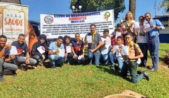 Clube de Desbravadores Diamantes de Monte Alto realiza ação voluntária
