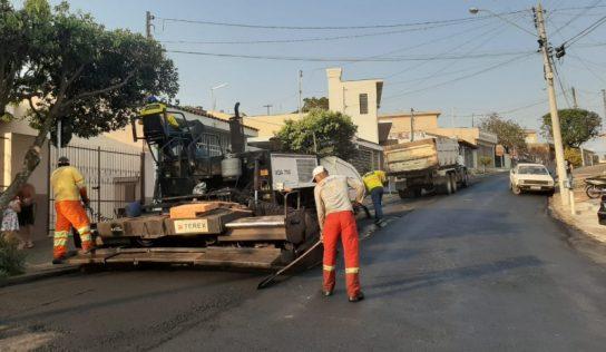 Obras de recapeamento em Monte Alto avançam