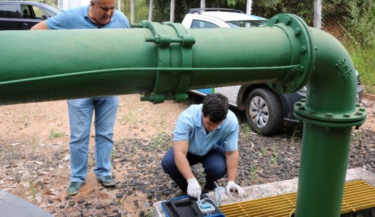 Secretário visita poço de captação de água da Sabesp