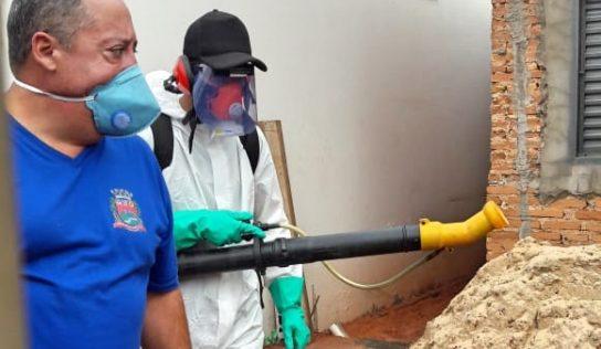 Bairros são nebulizados contra o mosquito da dengue