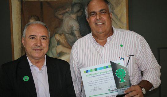 Pelo terceiro ano consecutivo, Monte Alto é premiado no Município VerdeAzul
