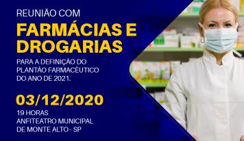 [CONVITE] Reunião com Farmácias e Drogarias de Monte Alto