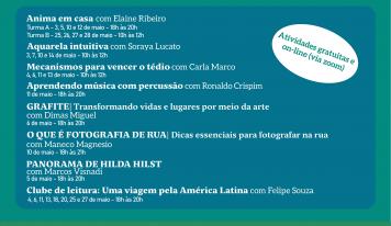 On-line, Monte Alto contará com oficinas culturais em maio