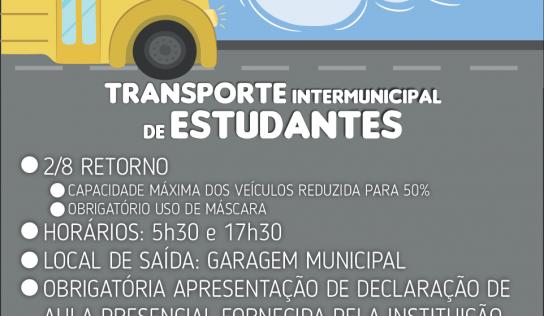 Transporte estudantil universitário retorna na próxima semana