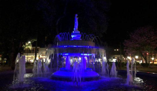 Praça Central: parceria revitaliza Fonte Nossa Senhora de Lourdes
