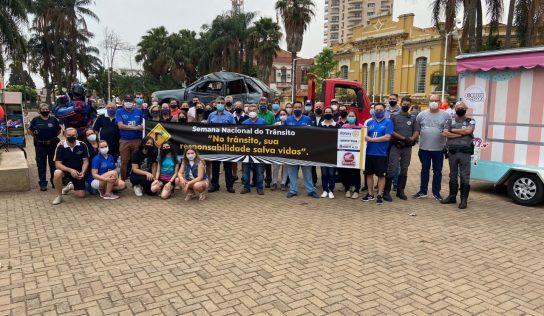 Trânsito seguro foi tema de ações entre Prefeitura e Rotary Club