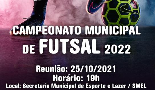 Municipal de Futsal 2022: inscrições serão abertas dia 25